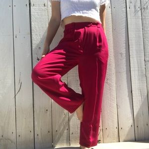 Vintage magenta trousers